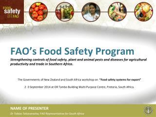 FAO's Food Safety Program