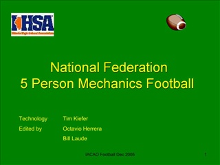 National Federation  5 Person Mechanics Football