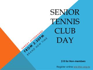 Senior Tennis Club Day
