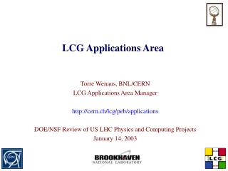 LCG Applications Area