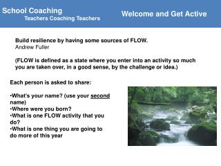 School Coaching  Teachers Coaching Teachers