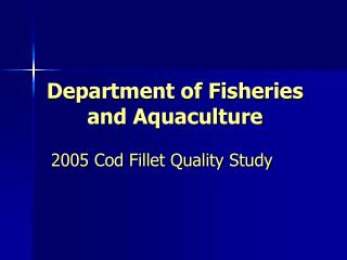 Department of Fisheries and Aquaculture