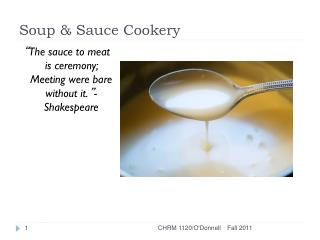 Soup & Sauce Cookery