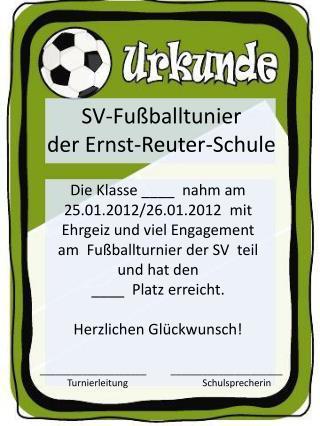 SV-Fußballtunier der Ernst-Reuter-Schule