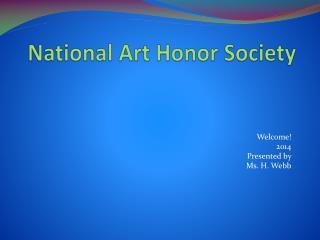 National  Art Honor Society