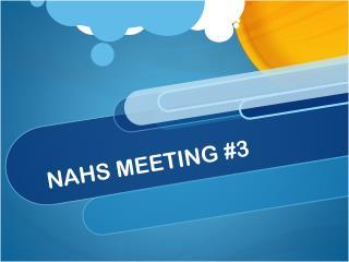 NAHS MEETING #3