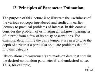 12. Principles of Parameter Estimation