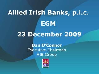 Dan O'Connor Executive Chairman  AIB Group
