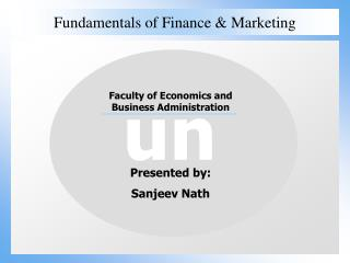 Fundamentals of Finance & Marketing