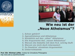 """Wie neu ist der   """"Neue Atheismus""""?"""