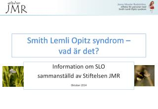Smith Lemli Opitz syndrom �  vad �r det?