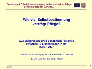 Präsentation zur Fachtagung der Caritas Berlin am 18. Juni 2008