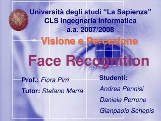 """Università degli studi """"La Sapienza"""" CLS Ingegneria Informatica a.a. 2007/2008"""