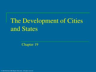 The Development of Cities and States