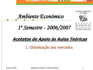 Ambiente Económico  1º Semestre - 2006/2007