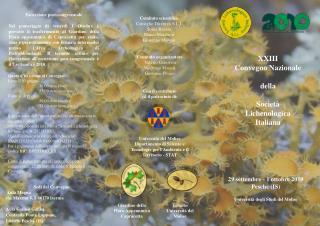 XXIII  Convegno Nazionale  della Società  Lichenologica  Italiana
