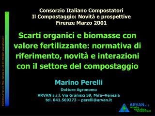 Marino Perelli Dottore Agronomo
