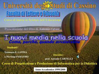 Presentazione del libro di  Antonio  Calvani