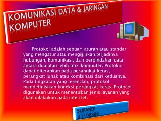 KOMUNIKASI DATA & JARINGAN KOMPUTER