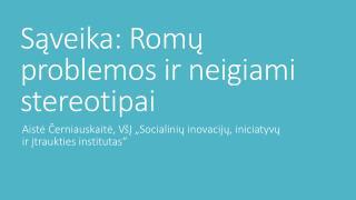 Sąveika: Romų problemos ir neigiami stereotipai