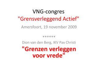 """VNG-congres """"Grensverleggend Actief"""""""