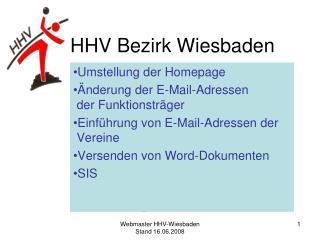 HHV Bezirk Wiesbaden
