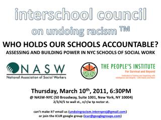 interschool council on undoing racism  TM