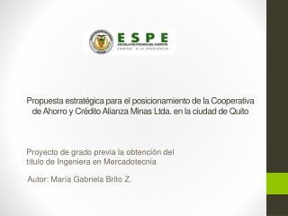 Proyecto de grado previa la obtención del título de Ingeniera en Mercadotecnia
