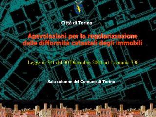 Sala colonne del Comune di Torino