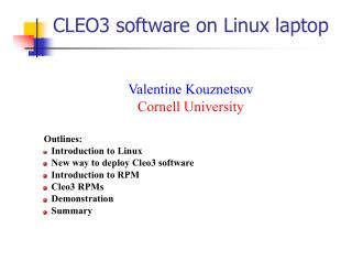CLEO3 software on Linux laptop