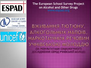 The European School Survey Project on  Alcohol and Other  Drugs espad