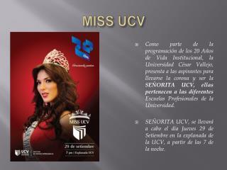 MISS UCV