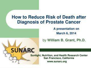 How to Reduce Risk of Death after Diagnosis of Prostate Cancer