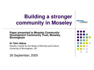Building a stronger community in Moseley