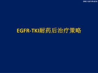 EGFR-TKI 耐药后治疗策略