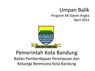 Umpan Balik Program KB Dalam Angka  April 2012