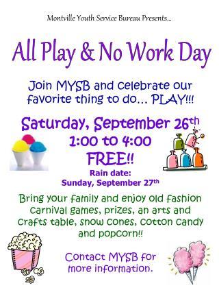 Montville Youth Service Bureau Presents…