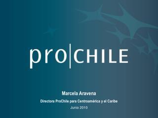 Marcela Aravena Directora ProChile para Centroamérica y el Caribe Junio 2010