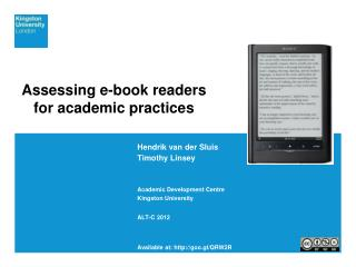 Assessing e-book readers  for academic practices