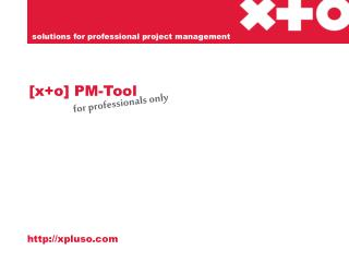 [x+o] PM-Tool