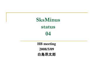 SksMinus status 04