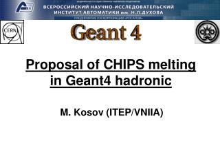 Proposal of CHIPS melting in Geant4 hadronic