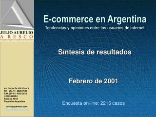E-commerce en Argentina Tendencias y opiniones entre los usuarios de internet