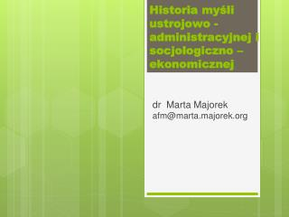 dr  Marta Majorek afm@marta.majorek