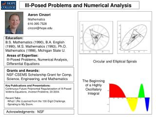 Ill-Posed Problems and Numerical Analysis