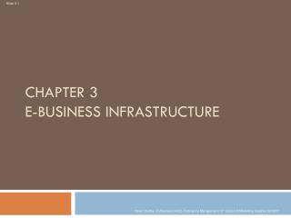 Chapter 3 E-business Infrastructure