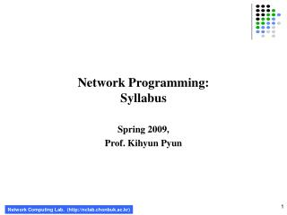 Network Programming: Syllabus