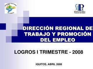 DIRECCIÓN REGIONAL DE TRABAJO Y PROMOCIÓN DEL EMPLEO
