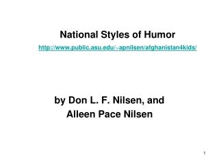 National Styles of Humor public.asu