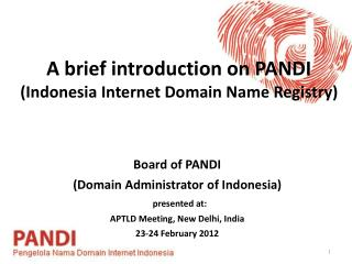 A brief introduction on PANDI (Indonesia Internet Domain Name Registry)